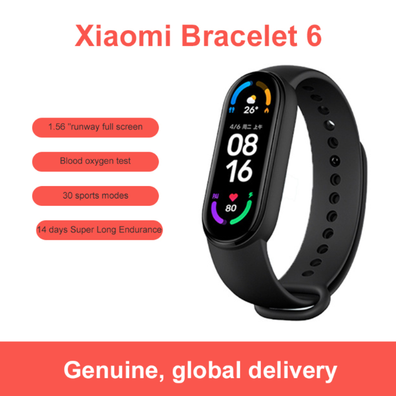 New Xiaomi Mi Band 6 NFC Version Smart Bracelet 1.56''AMOLED Waterproof Sport Watch Fitness Traker Heart Rate Monitor Wristband
