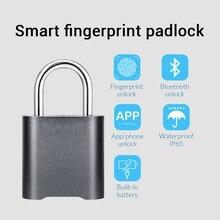 FUERS Mini ลายนิ้วมือสมาร์ทบลูทูธกุญแจกุญแจบ้าน Security APP ได้แชร์ล็อคสำหรับ IOS Android กันน้ำกลางแจ้งในร่ม