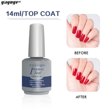 Yayoge Top Coat Not-cleaning Top Coat UV Gel No-Wipe Long Lasting Soak-Off Dull Frosted Surface Permanent Gel Lacquer Top Coat