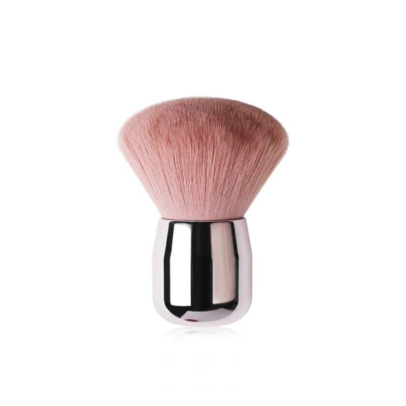 Honey Powder Brush Plating Handle Oblique Head Powder Brush Soft Comfortable Loose Powder Brush Blush Brush Makeup Tools