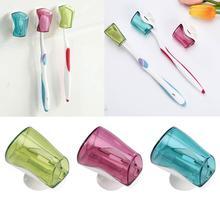3 sztuka zestaw przyssawka uchwyt na szczoteczki do zębów szczoteczka do zębów zakryte przechowywanie wieszak montażu na ścianie produkt łazienkowy artykuły domowe tanie tanio CN (pochodzenie)