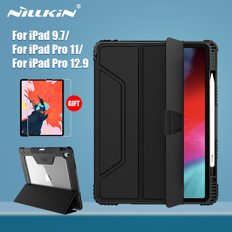 NILLKIN For IPad 9.7 Case For IPad Pro 11 10.2 Case For IPad Pro 12.9 Case Smart Flip Cover Gift Screen Protector Pencil Holder