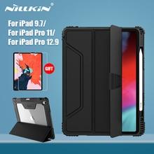 NILLKINสำหรับiPad 9.7 สำหรับiPad Pro 11 สำหรับiPad 10.2 สำหรับiPad Pro 12.9 กรณีสมาร์ทพลิกฝาครอบดินสอป้องกันหน้าจอของขวัญ