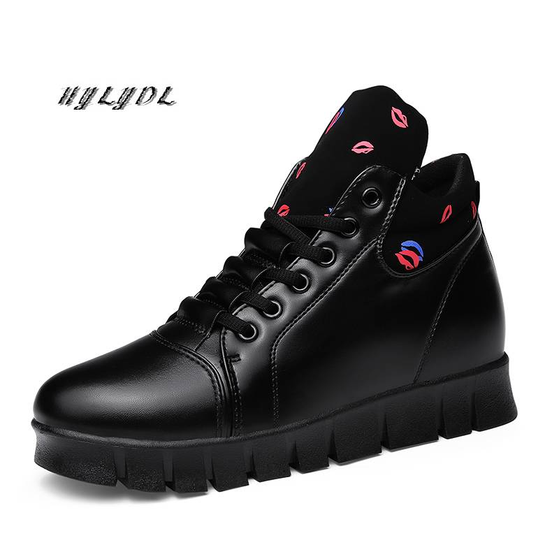 Women Shoes Winter Warm Flat Leather Sneakers Ankle Heighten Fashion Casual Outdoor Snow Boots Ladies Shoes Plush Women Sneakers
