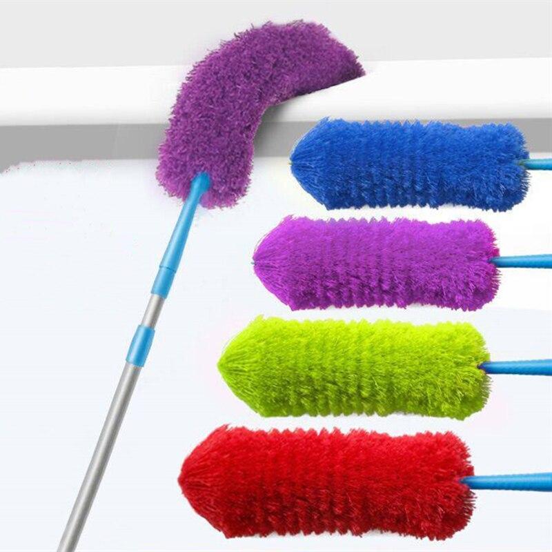 Prático estiramento estender macio microfibra duster pó mais limpo doméstico carro mobiliário escova de limpeza ferramenta de limpeza|dust cleaner|microfiber duster|dusters cleaning -