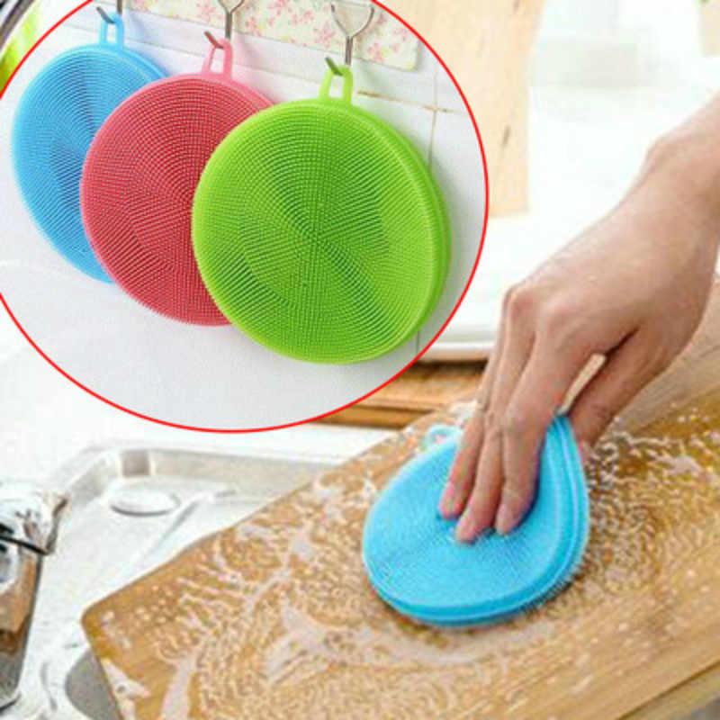 BRIDAY 1 個マジッククリーニングブラシシリコーン皿ボウル精練パッドポット簡単にクリーン洗浄ブラシクリーニングキッチン @ 1