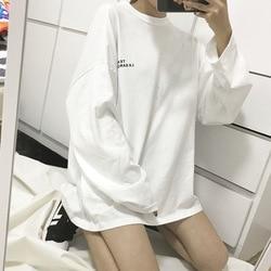 Camisetas femininas harajuku mulher tshirts t camisa feminina casual de manga comprida camisa de camisa por atacado dropshipping wbx3311