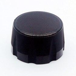 Perilla de potenciómetro de aluminio, botón codificador de volumen de Audio, 35X20mm, color negro