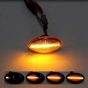 Image 2 - 2x12V lampada ripetitore laterale scorrevole LED dinamico indicatore laterale lampada pannello lampada senza errori per BMW MINI Cooper R50 R52 R53 2002 2008
