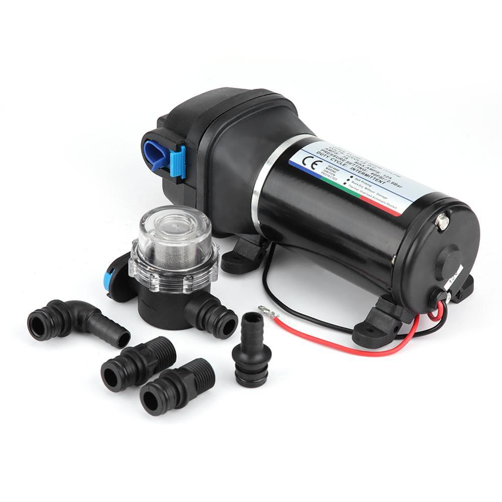 Marine 12V Automatic Self-priming Diaphragm Water Pump Built-in Pressure Switch