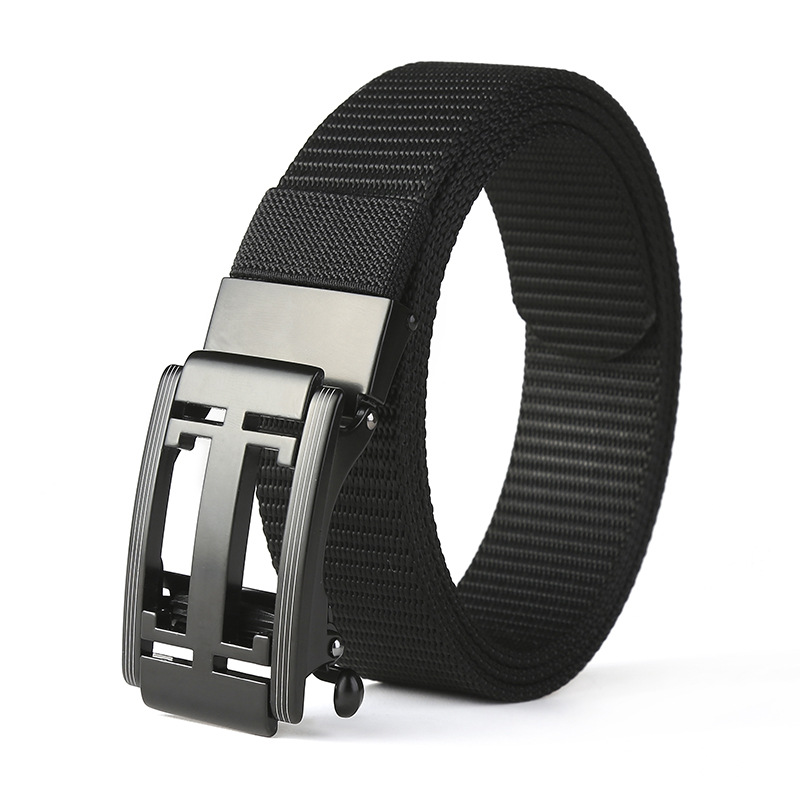 New Luxury Nylon Toothless Fashion Design Gg Canvas Belt High Quality Alloy Buckle for Men and Women Ceinture Correas Para Mujer