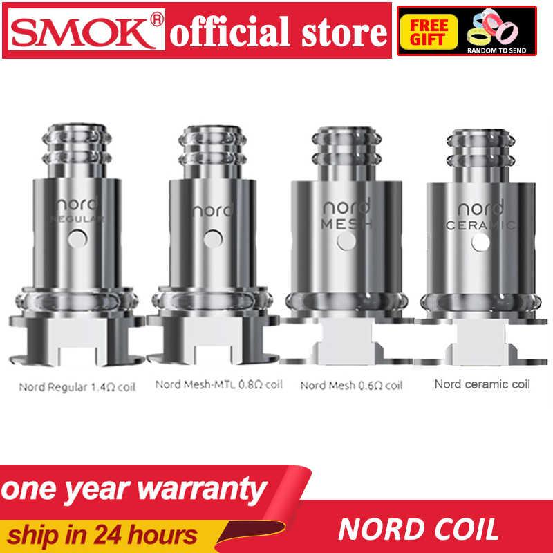 オリジナル 5 個 SMOK Nord 交換コイル定期的な 1.4ohm コイルと 0.6ohm メッシュコイル SMOK ため Nord キット電子タバコ