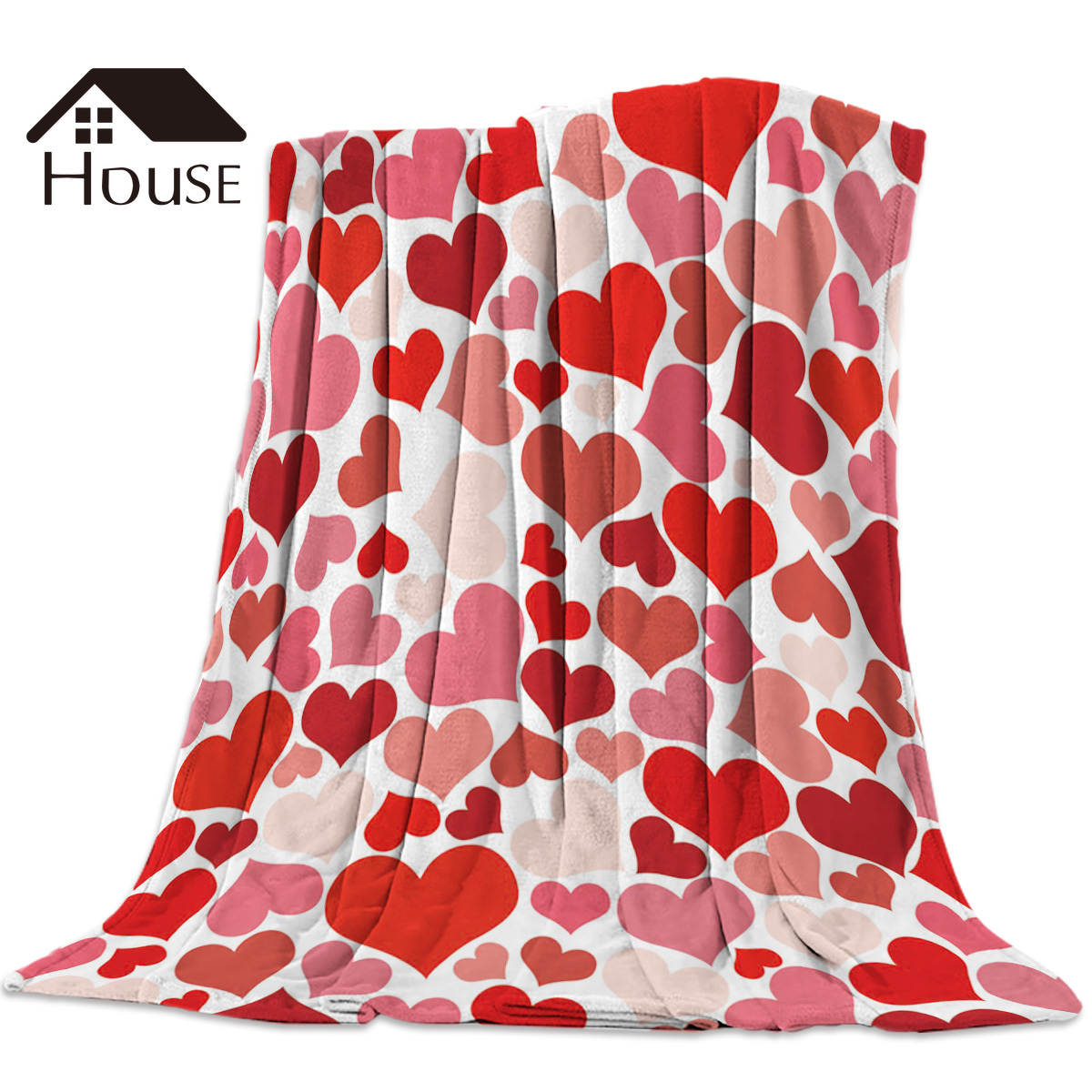 Valentine'S Day Red Heart Love Blanket Funny Printed Soft Boy Girl Baby Coral Fleece Love Blankets Warm Sofa Bed Sheets|Blankets| |  - title=
