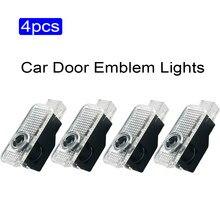 4x emblema Led lámparas para proyector puerta reemplazar luces partes para AUDI A1 A3 A4 B5 B6 B7 B8 B9 A5 A6 C5 C6 C7 A7 A8 D3 Q3 Q5 Q7 TT