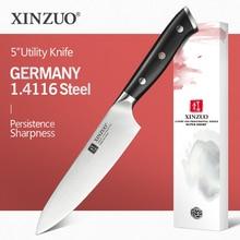XINZUO couteau utilitaire 5 pouces allemand, meilleur couteau de cuisine en acier 1.4116, nouveau couteau à fruits avec manche en ébène, accessoires de cuisine