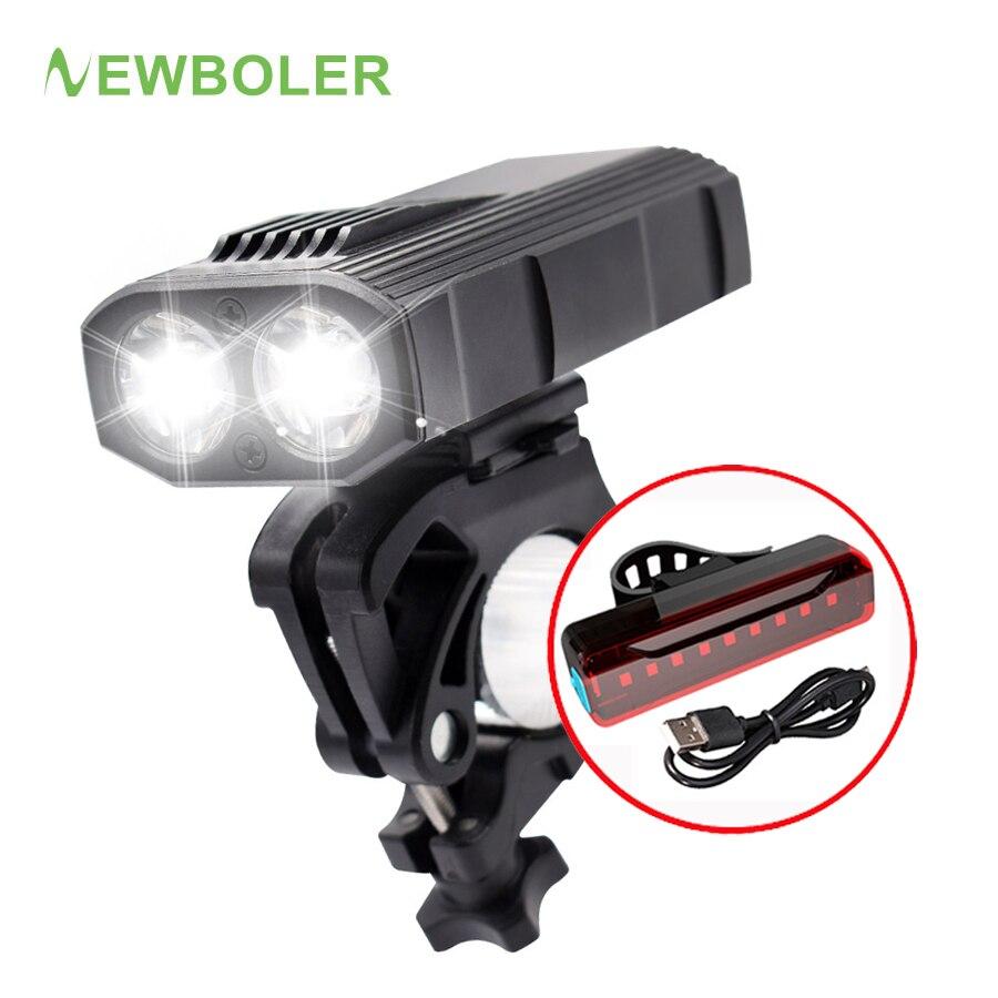 Vélo Lumière DEL Lampe étanche 1200 lm vélo avant lampe de poche USB