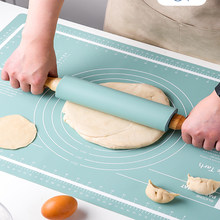 60cm Large Size Silicone Kneading Pad Non-Stick Thickened Rolling Dough Mat for Baking Kitchen Sheet Kitchen Accessories Tools
