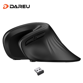DAREU Ergonomic Vertical Wireless Mouse 2.4Ghz Optical skin 6 Buttons Comfortable Gaming Mice with Adjustable DPI For Computer