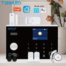 TUGARD WiFi 3G 4G 보안 경보 시스템, Tuya 스마트 홈 도난 경보 키트 433MHz 무선 탐지기 원격 팔 무장 해제