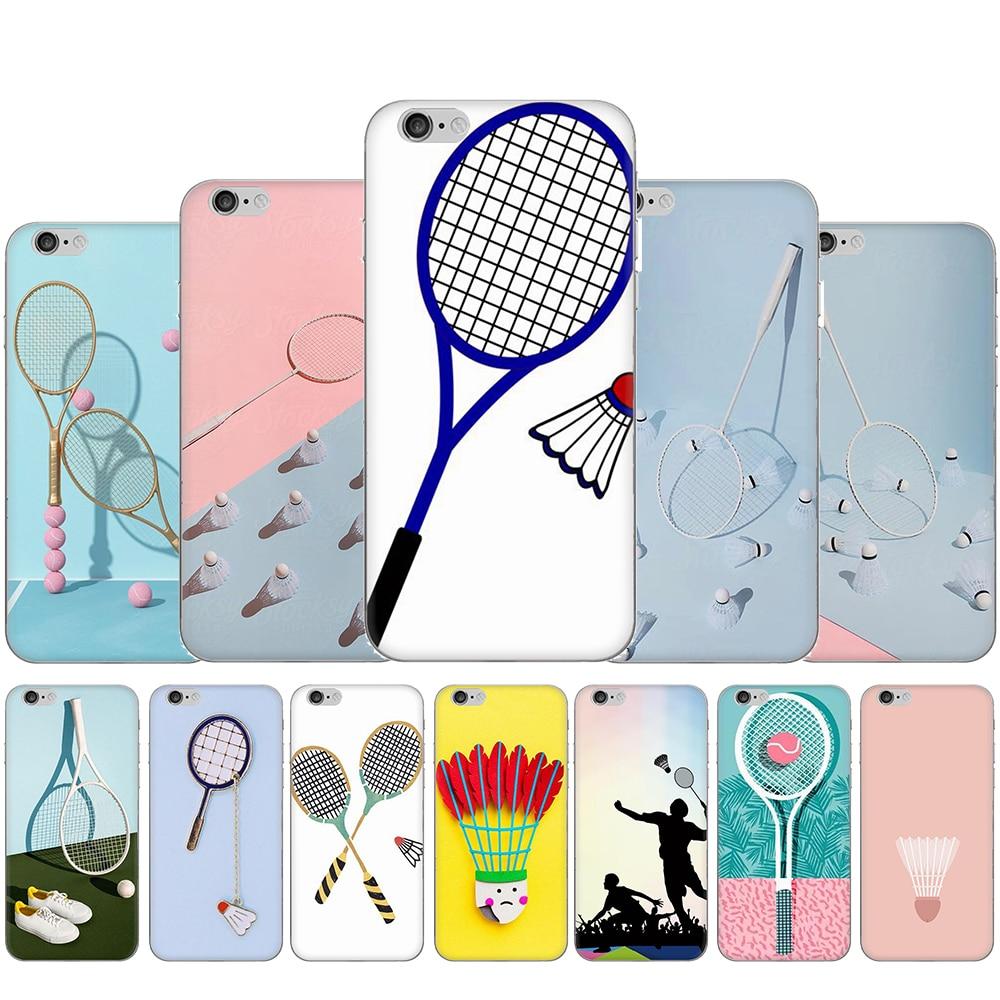 Sport Badminton Art Hard Phone Cover Case for iphone 5 5s SE 2020 5C 6 6s 7 8 Plus X XR XS Max 11 Pro Max