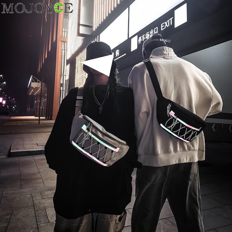Fashion Reflective Fanny Chest Bag Men Women Oxford Hip Hop Street Waist Purse Casual Travel Shoulder Crossbody Pack
