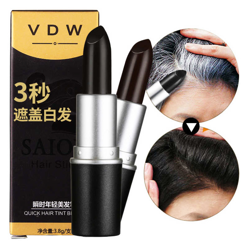 One-Time Hair Dye Instant Gray Root Coverage Hair Color Modify Cream Stick Temporary Cover Up White Hair Colour Dye