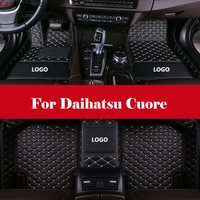 Custom Fit XPE Leather All Full Surrounded Waterproof car styling Car Floor Mats For Daihatsu Cuore