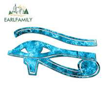 EARLFAMILY 13cm x Car Stickers for Eye of Horus Wadjet Waterproof Oem Sunscreen Vinyl JDM RV VAN 3D DIY Fine Decal