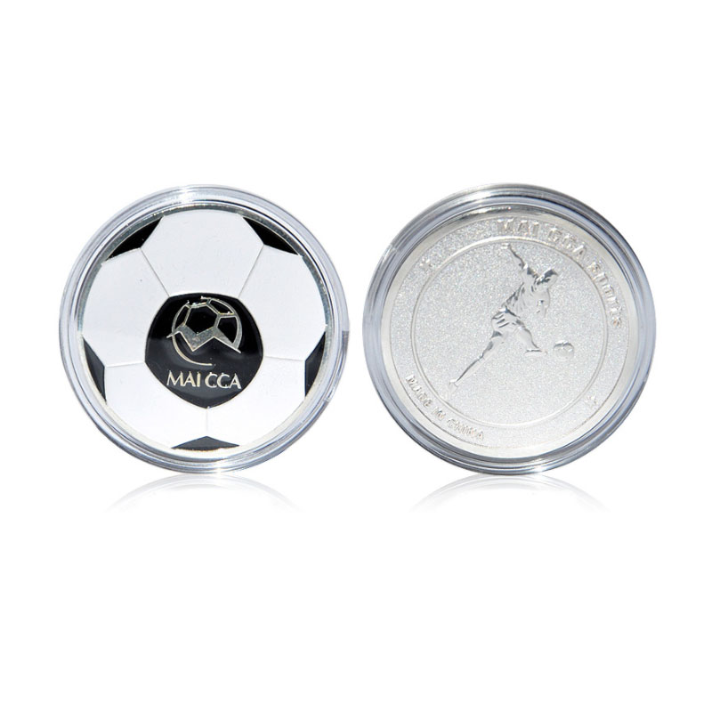 MAICCA Soccer Referee Coin Metal Football Coins Toss Unit Fair Play Match Equipment