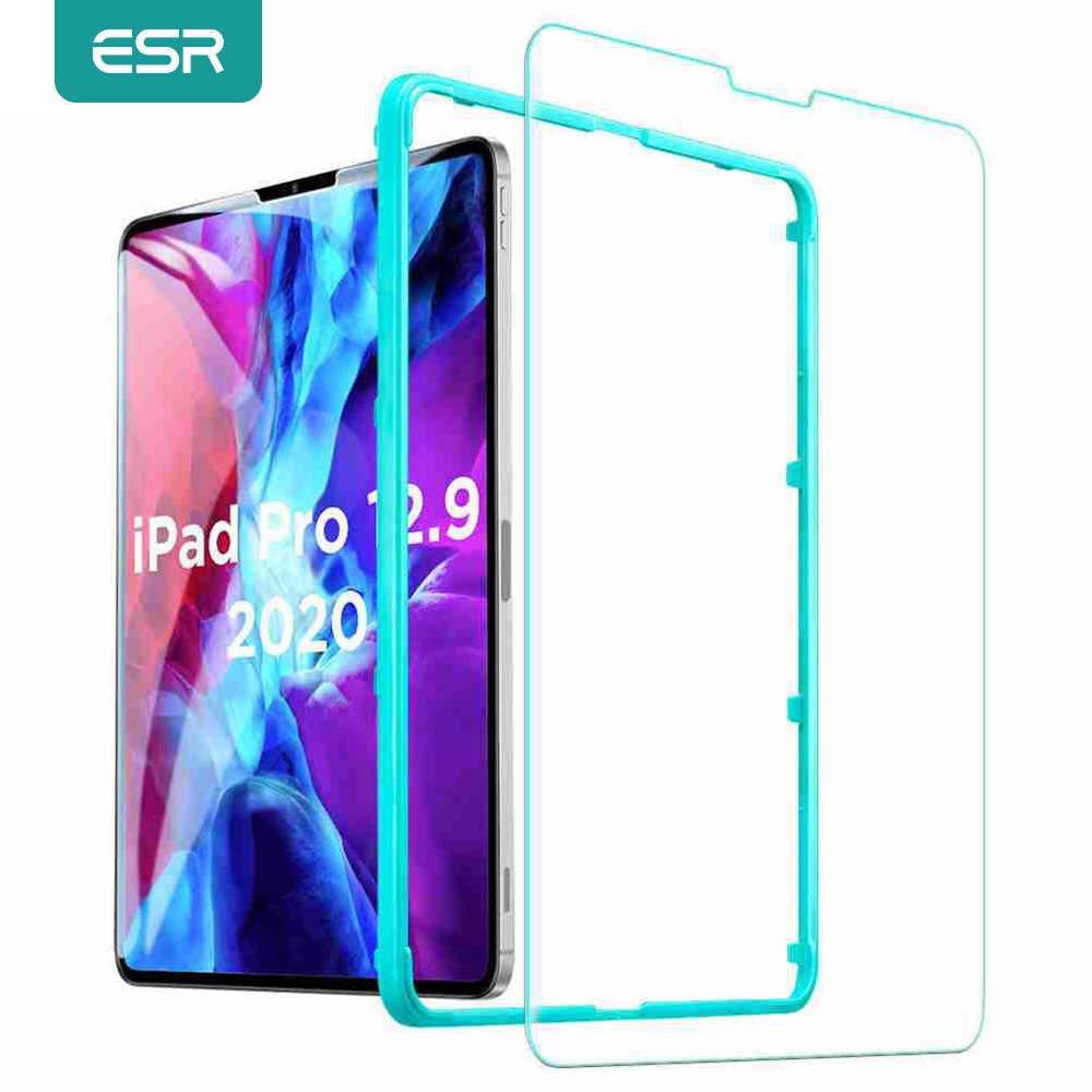 ESR 1Pc Tempered Glass untuk iPad Pro 2020 11 12.9 Inch Anti Blue-Ray HD 2X Pelindung Layar untuk iPad Pro 12.9 2020 Glass Glass 4th Gen
