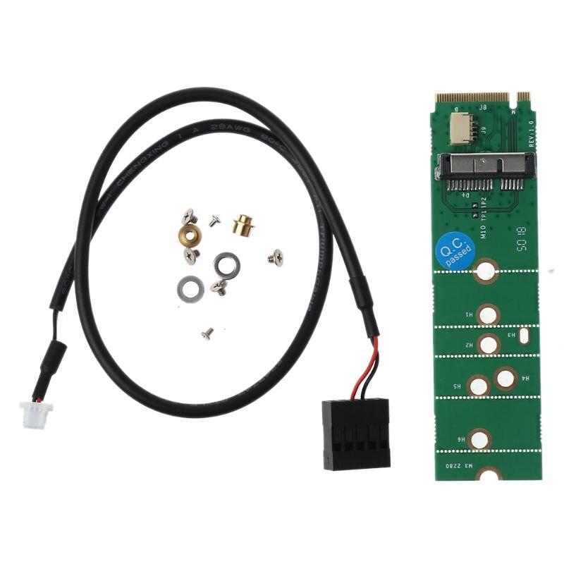 High High Speed BCM94360CD BCM94360CS2 BCM943224PCIEBT2 12+6 Pin Bluetooth WiFi Wireless Card Module to M.2 NGFF Key B+M Adapter(China)