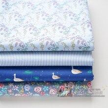 Amore e pace blu rosa romantico coreano puro cotone Twill tessuto fresco mano sinistra gruppi di stoffa copripiumino singolo personalizzato