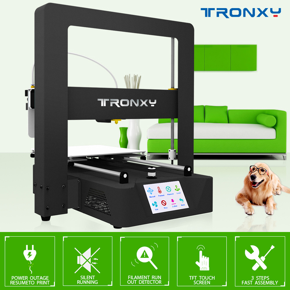 Tronxy X6A Anycubic 3D Printer full metal frame with Ultrabase Platfrom industrial grade high precision affordble better I3 Mega