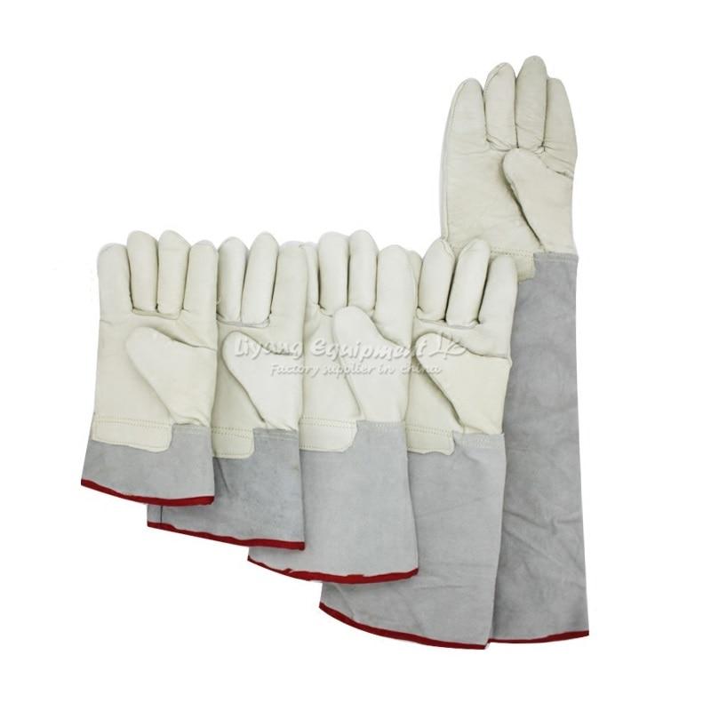 Aletler'ten Elektrikli Alet Setleri'de Soğuk dayanıklı sıvı azot geçirmez eldiven 250 derece koruyucu eldivenler 25 30 35 40 40 45 60cm su geçirmez donma eldiven title=