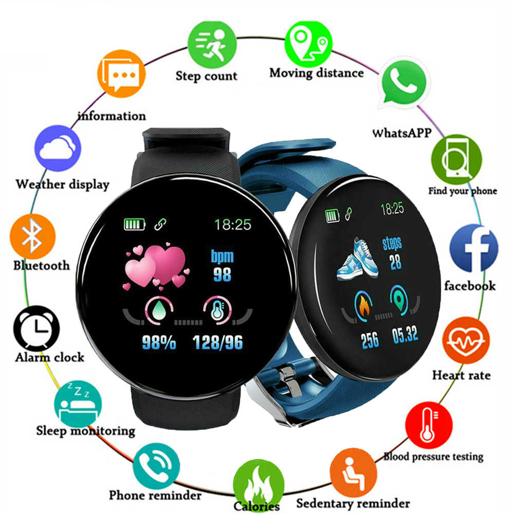 Smart Watch Men Blood Pressure Round Smartwatch Women Waterproof Sport Heart Rate Fitness Tracker Watches for Android IOS Phone