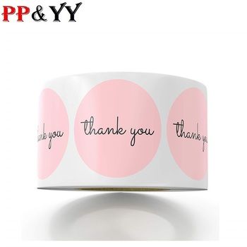 100-500pcs Thank You StickersPink Stickers for Company Giveaway & Birthday Party Favors Labels & Mailing Supplies Festival 1