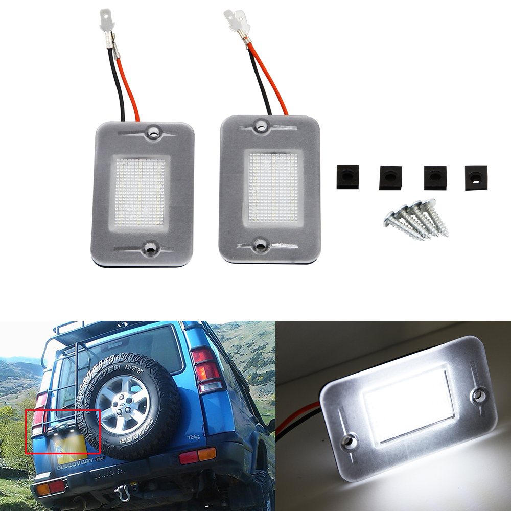 2pcs For Land Rover Discovery 1994-2004 1 2 Pair LED License Plate Lamp High Power White