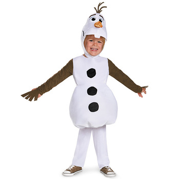 Luxury cozy plush cute kid Olaf Halloween costume for toddler kids favorite cartoon movie snowman party clothes - discount item  35% OFF Costumes & Accessories