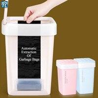 Mülleimer Platz Eimer Papier Korb Automatische Ändern Tasche Schlafzimmer Bad Küche Büro Abfall Bin Umweltfreundliche Mülleimer