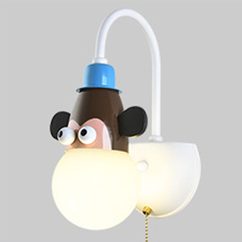 LED Modern Children's Cartoon Wall Lamp Creative Interior Decoration Sconces Animal Bedroom Bedside Lamp Wall Lighting