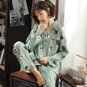 Image 1 - BZEL אופנה נשים של פיג מה סטי כותנה מקרית Homewear Loungewear גבירותיי נייטי Kawaii פיג פיג מות גדול גודל Nightwear XXXL
