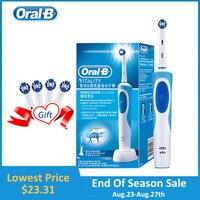Oral B cepillo de dientes eléctrico 2D cepillo de dientes giratorio limpio recargable cepillo de dientes dos cabezas de cepillo de limpieza