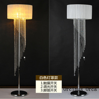 Modern Simple Colorful Crystal Floor Lamp Living Room Bedroom Bedside Lamp Creative LED Cloth Art Vertical Table Lamp