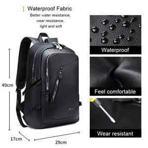 Image 4 - בציר 15.6 עור תרמיל מחשב נייד גברים של שחור Bagpack בחזרה חבילות ציקי לגברים עור המוצ ילה תרמיל