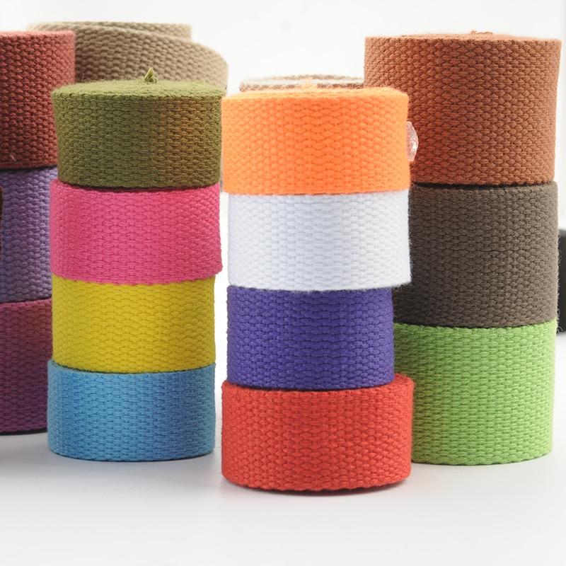 5 meters 25mm Canvas Ribbon Belt Bag Webbing Nylon Webbing Knapsack Strapping Sewing Bag Belt Accessories
