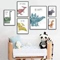 Nette Dinosaurier Cartoon Tier Zitat Kindergarten Nordic Poster Und Drucke Wand Kunst Leinwand Malerei Wand Bilder Baby Kinder Zimmer Dekor