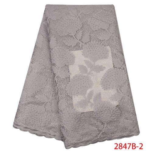 Африканская кружевная ткань высокого качества кружева новая швейцарская вуаль кружева швейцарская добавить камни нигерийские кружева вуаль ткань YA2847B-3 - Цвет: Picture2