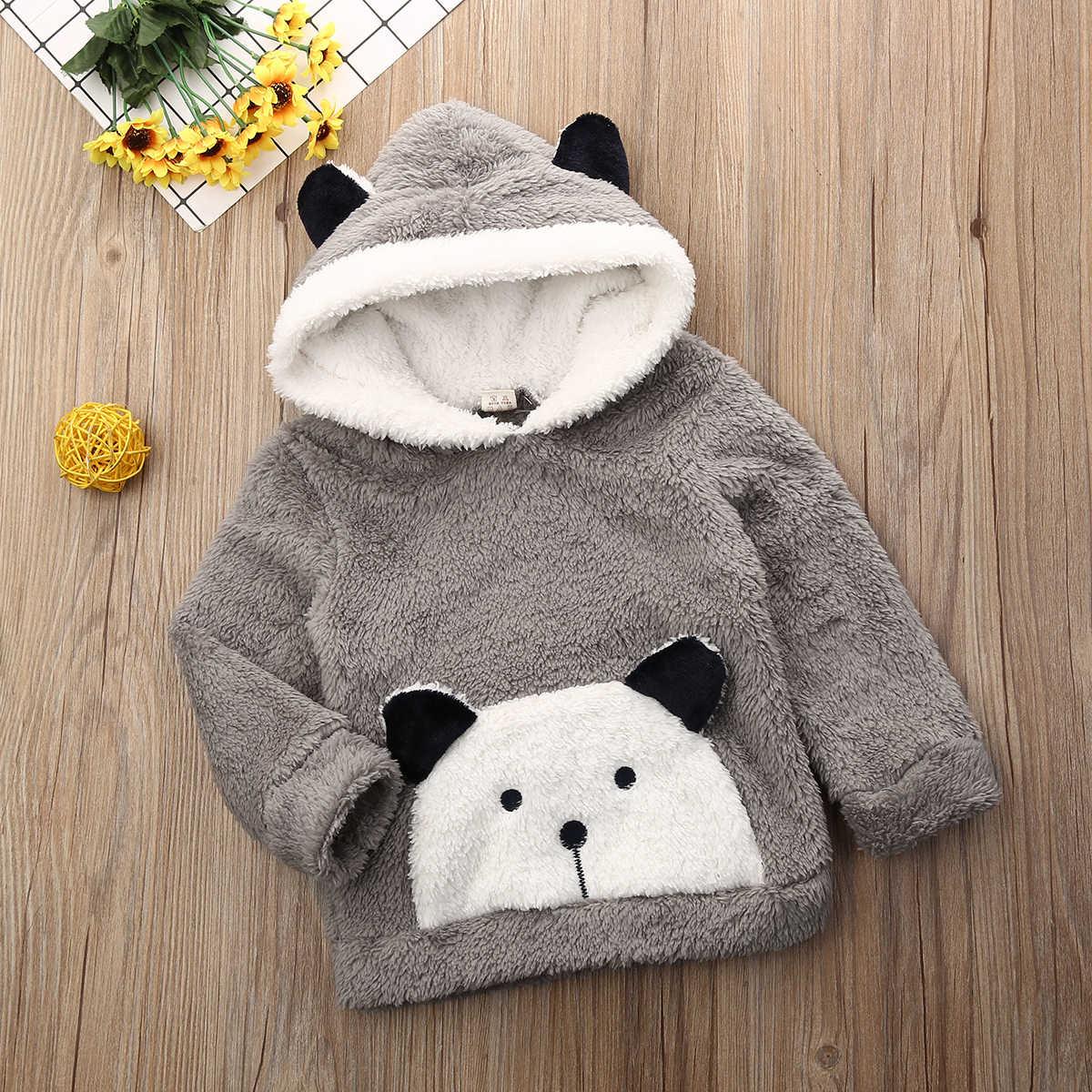 6M-3Y เด็กวัยหัดเดินทารกแรกเกิดเด็กทารกเสื้ออบอุ่น Hooded การ์ตูนตุ๊กตาหมีเสื้อฤดูหนาวฤดูใบไม้ร่วงเด็กอ่อนเสื้อผ้า