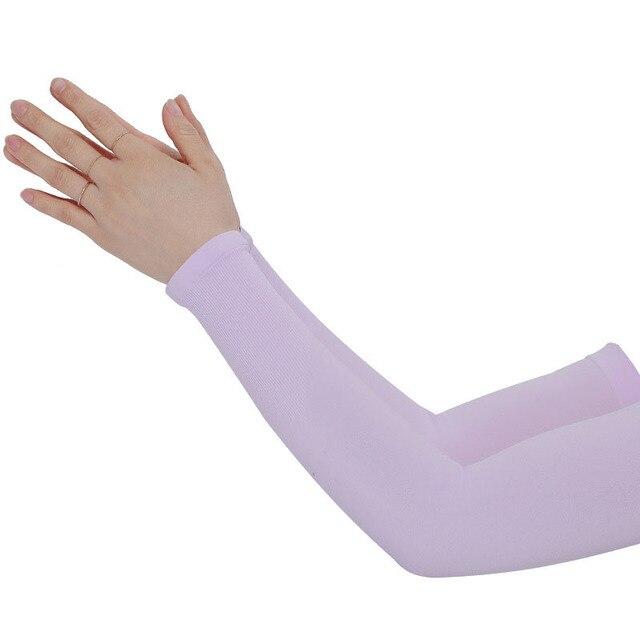 Mangas de braço unissex braço sem dedos manga protetor solar proteção uv gelo legal ciclismo correndo pesca escalada condução braço capa 4