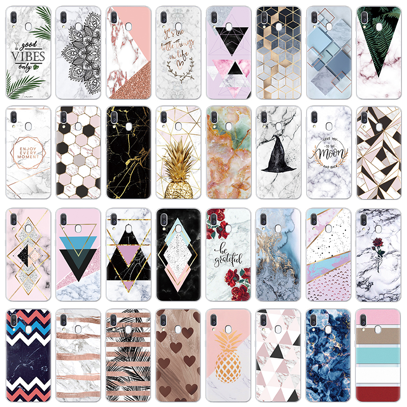 Luxury Marble Phone <font><b>Case</b></font> For <font><b>Samsung</b></font> <font><b>Galaxy</b></font> <font><b>A40</b></font> A30 A50 A70 A60 A10 A20 <font><b>Case</b></font> Fashion silicone Soft TPU <font><b>Cover</b></font> Coque Capa Funda image